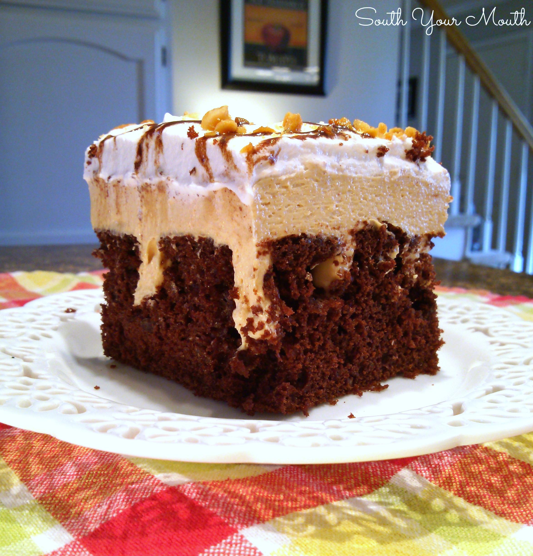 Recipe Chocolate Peanut Butter Poke Cake