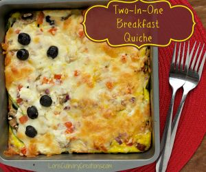 Two in One Baked Breakfast Quiche