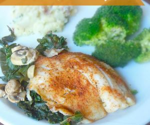 Fiesta Lime Tilapia with Mushrooms with Kale