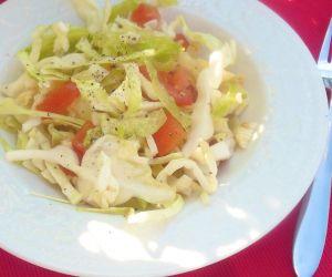 Lime Garlic Cabbage Tomato Salad