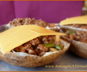 Taco Stuffed Potato Skins