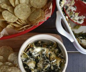 3 Cheese Kale Artichoke Dip
