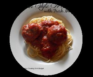 Italian Style Meatballs with Fresh Marjoram