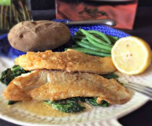Filet of Cod Meuniere with Wilted Spinach