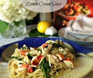 Lobster Linguine with Lemon Cream Sauce