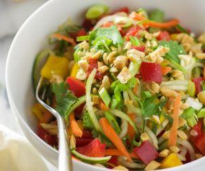 Thai Cucumber Salad with Peanut Chili Vinaigrette