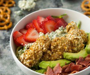 Strawberry & Honey Mustard Pretzel Chicken Cobb Salad