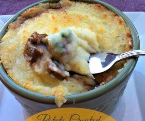 Potato Crusted Beef Pie