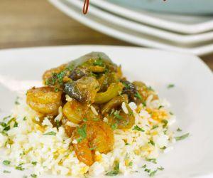 Garlic Shrimp over Rice