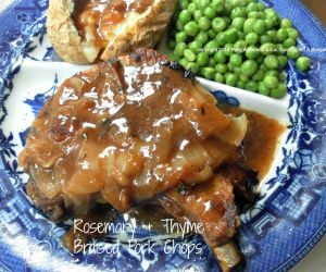 Rosemary and Thyme Braised Pork Chops