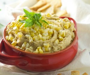 Sweet Corn & Basil Hummus