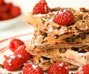Chocolate Crunch Raspberry Waffles
