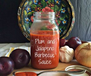 Plum and Jalapeno Barbecue Sauce