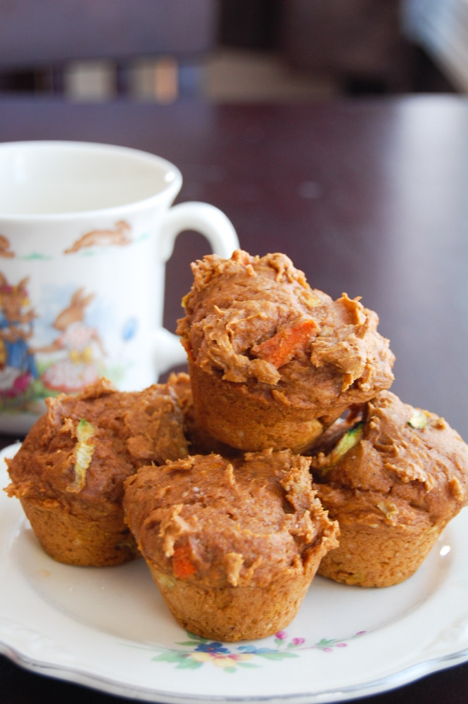 Pumpkin, Carrot, and Zucchini Mini Muffins