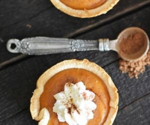 Mini Pumpkin Pies Made in a Muffin Tin