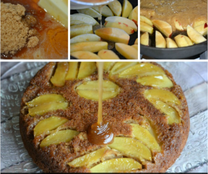 Maple Apple Upside Down Skillet Cake