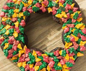 Fall Wreath Cupcake Cake