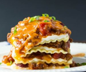 BBQ Chili Cheese Lasagna