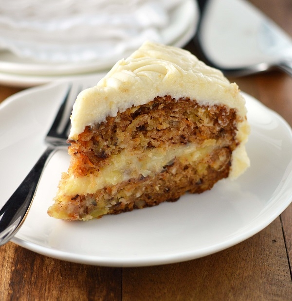 Carrot Cake with creamy pineapple filling and cream cheese ...