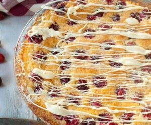 Cranberry Coconut Blender Pie