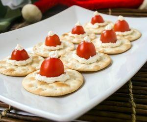 Cherry Tomato Santa Hats