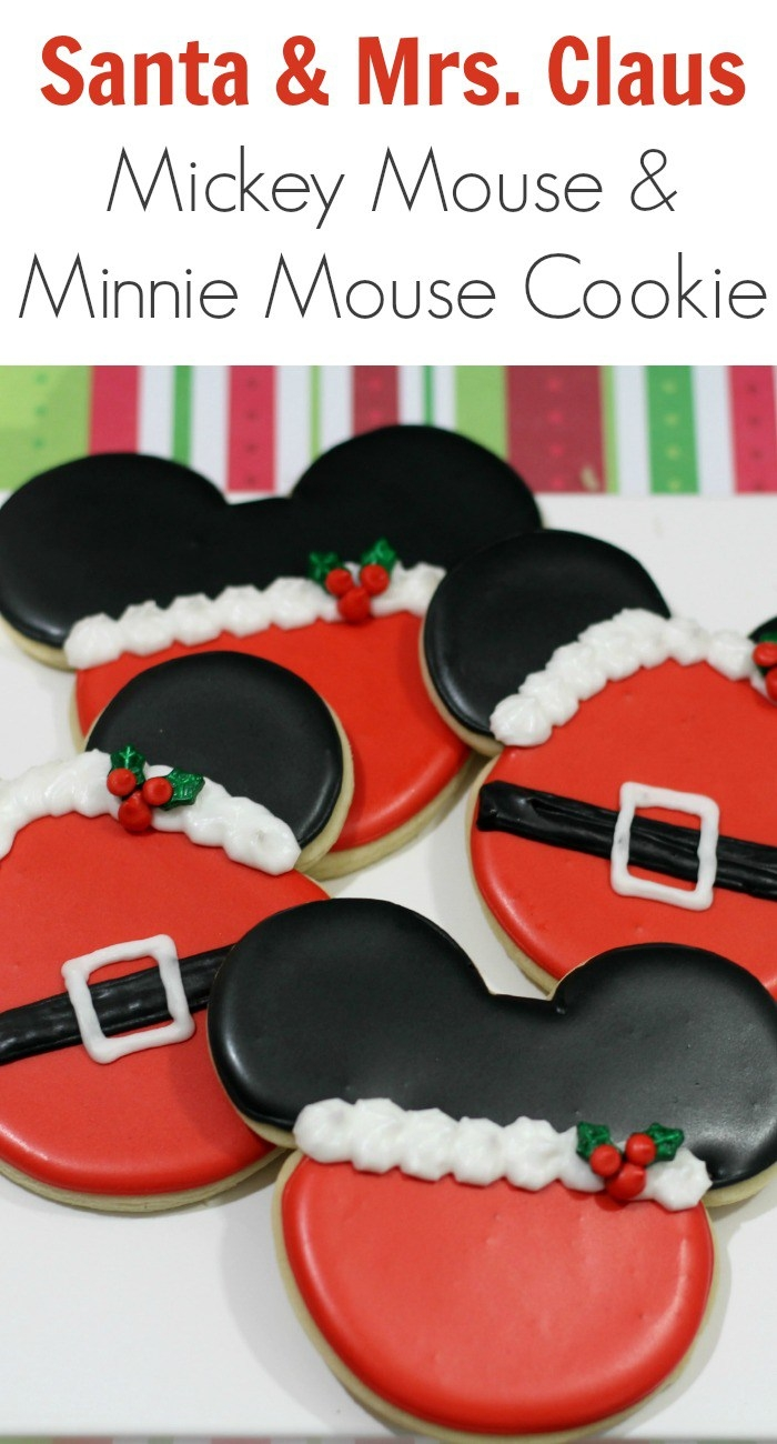 mickey and minnie mouse christmas cookies - Mickey Mouse Christmas Cookies
