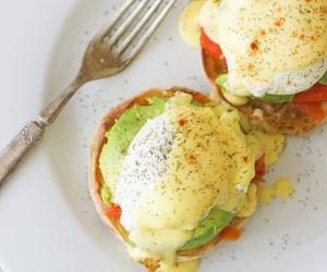Salmon and Avocado Eggs Benedict