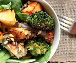 Winter Vegetable Grilled Chicken Salad