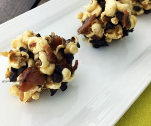 Bacon, Caramel, and Chocolate Dessert Popcorn