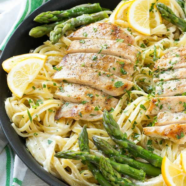 recipe: asparagus chicken pasta [30]