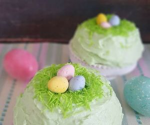 Bird's Nest Cake + Buttercream Frosting Recipe