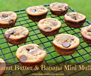 Peanut Butter and Banana Mini Muffins