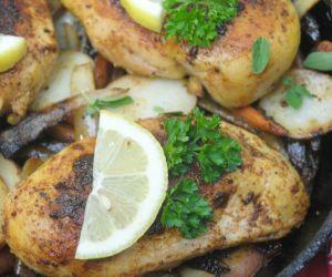 Cast Iron Lemon Pepper Tarragon Chicken