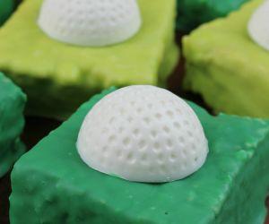 Father's Day Treat-Rice Krispie Golf Ball Bar