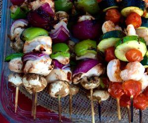 Grilled Chicken & Shrimp Kabobs