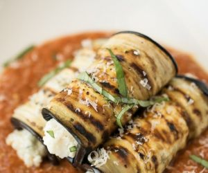 Grilled eggplant rollatini