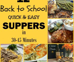 12 Back to School Suppers