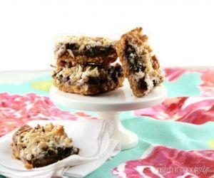 Low Sugar Magic Cookie Bars