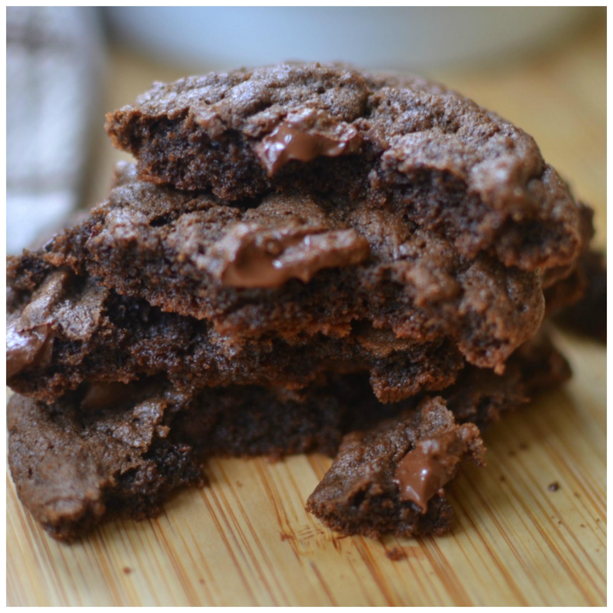 Triple Chocolate Chunk Cookies
