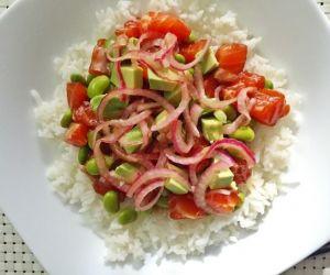 Salmon Rice Bowl with Avocado