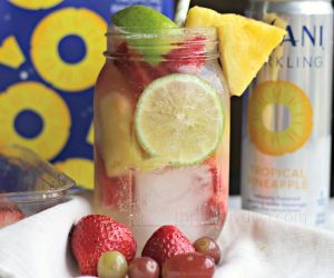 Tropical Pineapple Limeade Infused Water Recipe