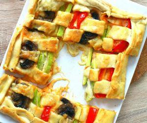 Braided vegetable tart