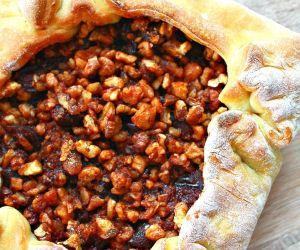 Crescent plum tart