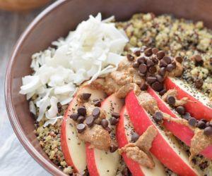Apple and Almond Butter Breakfast Quinoa