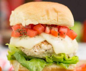 Bruschetta Turkey Burgers