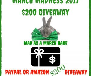 MARCH MADNESS 2017 $200 GIVEAWAY!