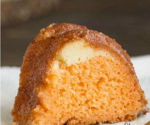 Orange Cake with Cream Cheese Filling