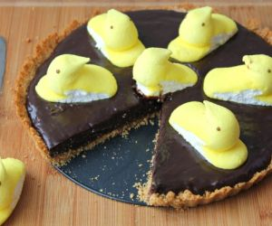 Easter Peeps Chocolate Tart