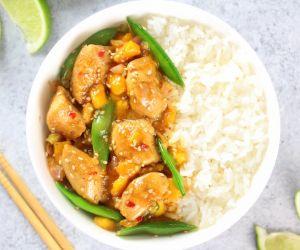 Mango Chicken Stir-Fry with Snap Peas