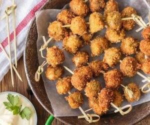 Fried Blue Stuffed Olives